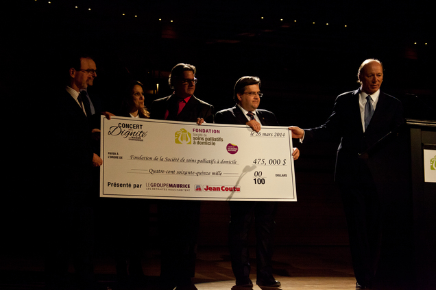 A great financial success for the 2014 Concert for Dignity